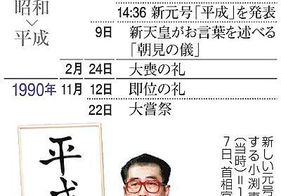 新元号、2019年元日から 退位は前年大みそか想定:朝日新聞デジタル
