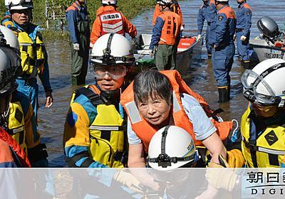 「猫飼っていて避難できなくて」中1男子をボートで救出 [台風19号]:朝日新聞デジタル