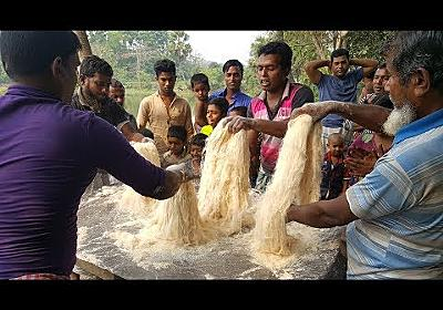 Transformation Of Wheat Flour & Sugar - Amazing Way of Making Huge Traditional Sweet Item For Kids - YouTube