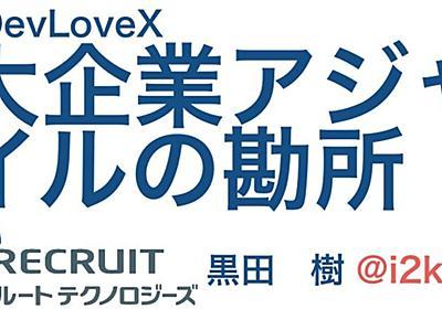 大企業アジャイルの勘所 #devlovex #devlovexd