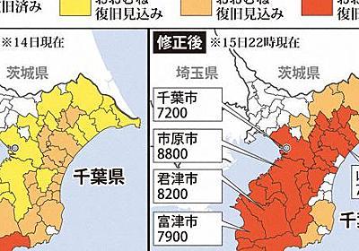 「停電復旧見込み27日ごろ」4市町が22市町に拡大 東電が3度修正 - 毎日新聞