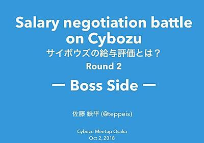 https://www.slideshare.net/teppeis/salary-negotiation-battle-on-cybozu