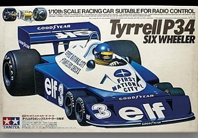 F1日本GP:グロージャンがティレルP34のプラモデル(タミヤ)をデカール直前まで組み上げ│F1情報通