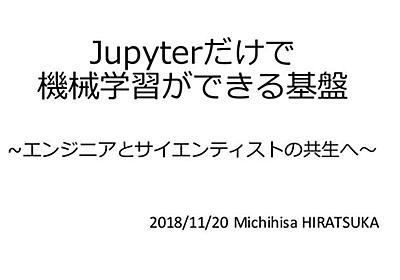 Jupyter だけで機械学習を実サービス展開できる基盤