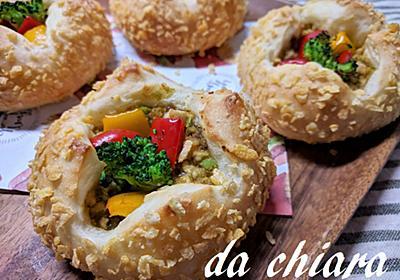 簡単!!枝豆入りキーマカレーの焼きカレーパン - キアラの気まぐれ料理とパン日記