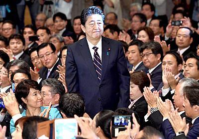 内閣支持率、7ポイント増の55% 本社世論調査  :日本経済新聞