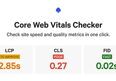 Core Web Vitals Checker   Calibre