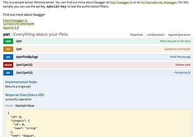 開発効率を上げる!Swaggerで作るWEB APIモック - Start Today Technologies TECH BLOG