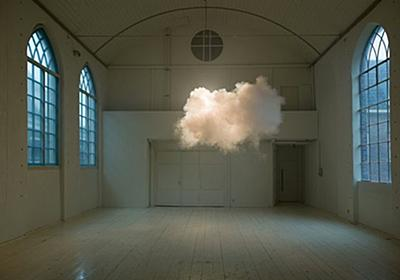 Artist makes clouds in gallery / Boing Boing