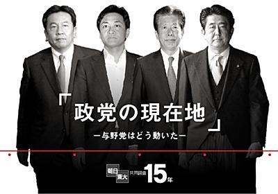 政党の現在地~与野党はどう動いた 朝日・東大共同調査15年 選挙:朝日新聞デジタル