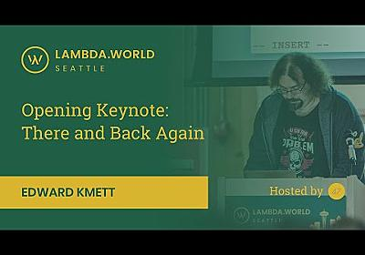 Lambda World 2018 - Opening Keynote by Edward Kmett - YouTube
