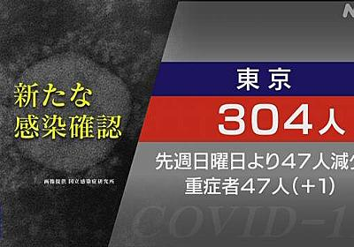 東京都 304人感染確認 友人と旅行中に感染も 外出自粛の徹底を   新型コロナ 国内感染者数   NHKニュース