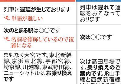 電車の放送:やさしくない 日本で暮らす外国人 長文・敬語避けて 日本語教室調査 - 毎日新聞