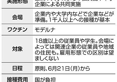 職域接種、正社員の優先ダメ 委託先を対象にする動きも [新型コロナウイルス]:朝日新聞デジタル