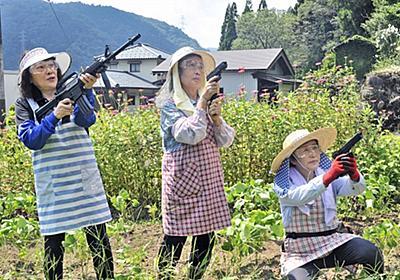 サル撃退へ女性3人がバスターズ結成 エプロン姿のまま急行、エアガンで威嚇 | 社会 | 福井のニュース | 福井新聞ONLINE