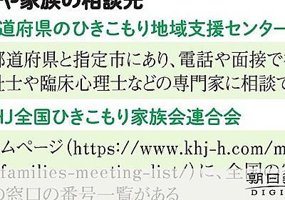 「ひきこもる中年の我が子どうすれば」 鳴りやまぬ電話 [中高年のひきこもり]:朝日新聞デジタル