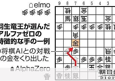 AI進化中 強くて型破り 羽生竜王も、うなるほど 囲碁・将棋・チェス:朝日新聞デジタル
