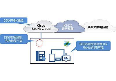 KDDIとシスコ、「Cisco Spark」の提供で協業 固定電話回線なしで外線通話やクラウドPBXが利用可能に - ITmedia エンタープライズ