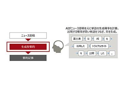 記事を要約するAI、富士通が試験公開 言葉の表現を変えて54文字以内に - ITmedia NEWS