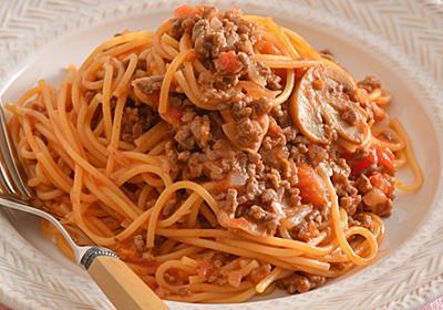 「茹でない」ミートソーススパゲティは普通に作るより美味しくて時短! | mi-mollet NEWS FLASH Lifestyle | mi-mollet(ミモレ) | 明日の私へ、小さな一歩!