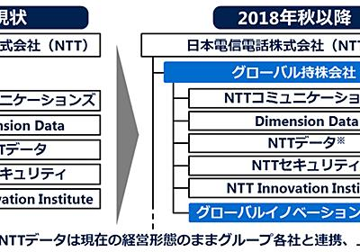 NTTがグローバル持株会社を設立、NTT ComやNTTデータなど5社を移管 - クラウド Watch
