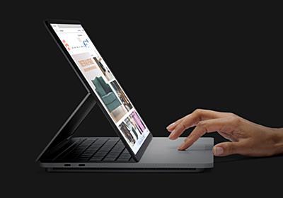 Microsoftから高性能な「Surface Laptop Studio」。RTX 3050 Tiを搭載してフリップ