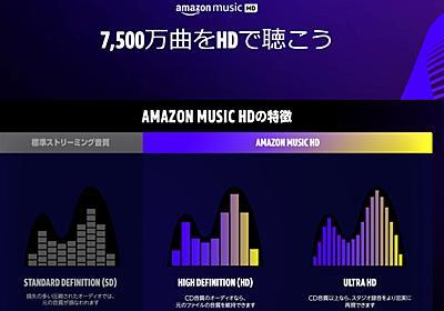 Amazon Music HDが月額980円に値下げ。プライム会員は780円 - AV Watch