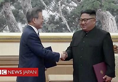 北朝鮮、一部ミサイル施設の廃棄で合意 南北首脳会談で共同宣言 - BBCニュース