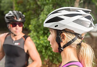 自転車用ヘルメットに骨伝導スピーカーとLEDライト搭載、COROS「OMNI」 - AV Watch