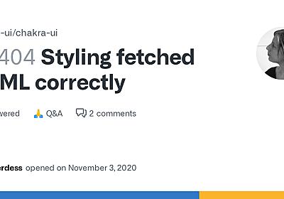 Styling fetched HTML correctly · Discussion #2404 · chakra-ui/chakra-ui