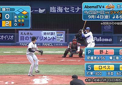 野球中継を「パワプロ」仕様で生配信、AbemaTVが実施 プロ野球中継史上初の試み - ねとらぼ