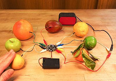 果物でリズムマシンを作ってみる   Maker is You!