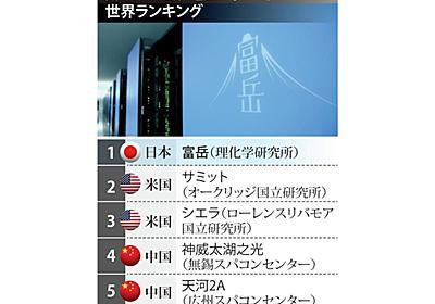 スパコン「富岳」、世界ランク首位 日本9年ぶり快挙 - 産経ニュース