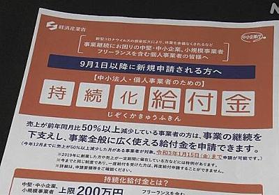 「持続化給付金」返還の申し出6000件余 数十億円規模か 経産省 | 新型コロナウイルス | NHKニュース