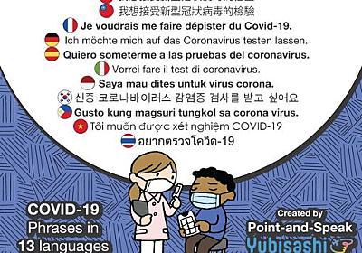 新型コロナウィルス対応 指さし会話Point-and-Speak YUBISASHI for COVID-19 | YUBISASHI 旅の指さし会話帳