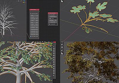 ブレンダーでリアルな木を簡単に作るアドオン「Modular Tree」 | 3DCG最新情報サイト MODELING HAPPY