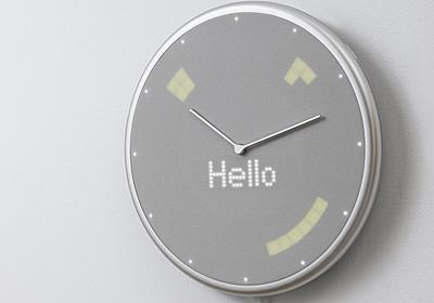 +Style、時間だけでなく天気やスケジュールも表示するスマートクロック - 家電 Watch
