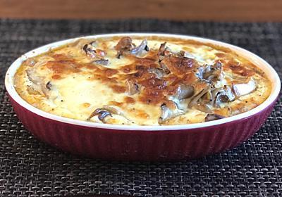 サバ缶レシピ【クリーミーチーズな海で身を崩したキノコと鯖】 - らしくないblog