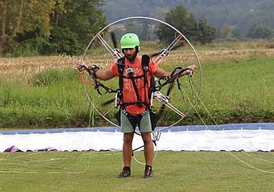 パラシュート+4枚電動プロペラで空を飛ぶ。パラモーターを自作した人が登場   REVOLT(リボールト)   Kickstarter fan!