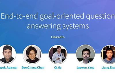 [KDD 2018 tutorial] End to-end goal-oriented question answering syste…