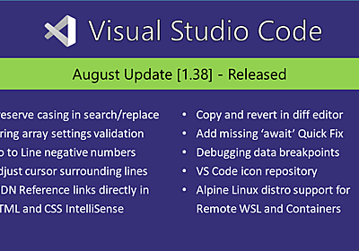 Visual Studio Code August 2019