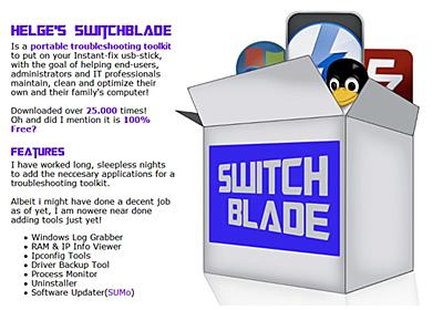 USBメモリで持ち運べるWindowsのお助けツールキット『Helge's Switchblade』 | ライフハッカー[日本版]