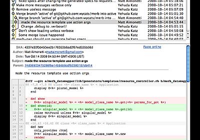 Git リポジトリを視覚化するツール「GitX」 - kwatchの日記