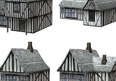 Low Polygon Medieval Buildings 2 (for Poser) 3D Models VanishingPoint