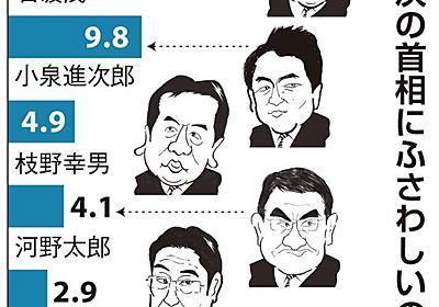 【産経・FNN合同世論調査】ポスト安倍、首相本人が再浮上、自民支持層では石破氏に大差 - 産経ニュース