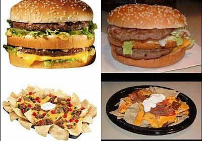 ファーストフードの広告写真と実物写真を比較する「Bad Food Ad!」