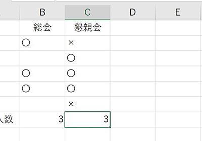 Excelで「〇」の数を数えたい。COUNTAとCOUNTIFの使い分け | 高齢者のためのICT教室