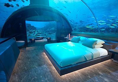 CNN.co.jp : 世界初、海の中に泊まれるコテージ モルディブにオープン