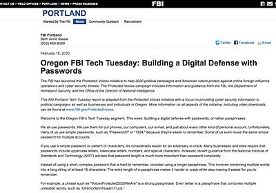 「パスワードは複雑さより長さが大切」 FBIが指南 - ITmedia NEWS