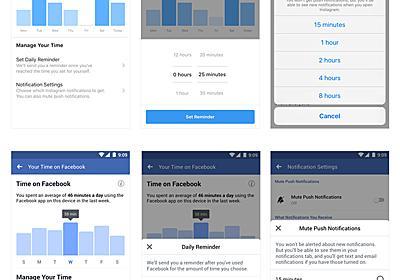 FacebookとInstagramに使いすぎ防止機能追加へ - ITmedia NEWS